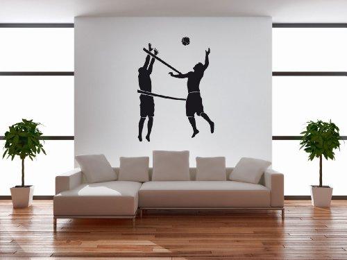 Wandtattoo Wandaufkleber Volleyball #122C schwarz 120cm x 164cm (RAL9005) VERSANDKOSTENFREI!