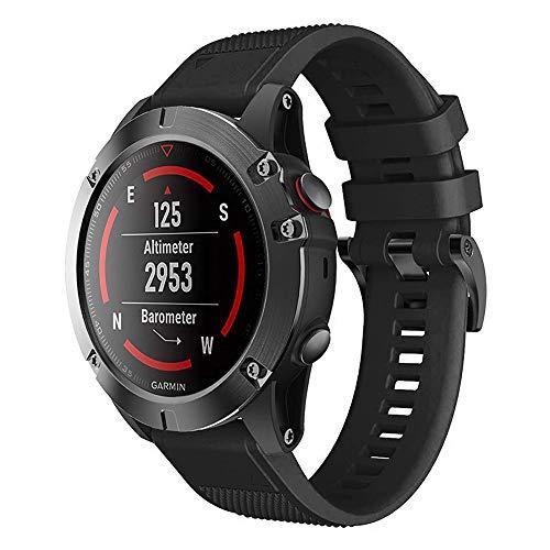Digit.Tail - Correa de Silicona Ajustable de Repuesto para Garmin Instinct, Fenix 5/5 Plus, Forerunner 935, Quatix 5/5 Zafiro, D2 Delta, Approach S60 Smartwatch (22 mm)