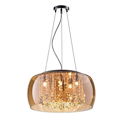 Plafon, Bella Iluminação, SohoPD002AM, mbar/Cromado/Transparente