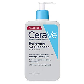 CeraVe Salicylic Acid Cleanser | 16 Ounce | Renewing Exfoliating Face Wash With Vitamin D for Normal Skin | Fragrance Free