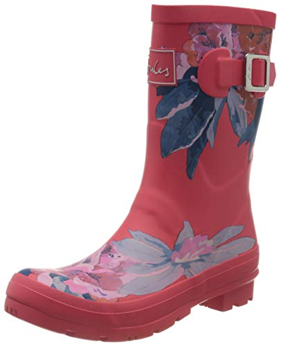 Joules Molly Welly, Botas de Agua para Mujer, Rojo (Red Floral Red Floral), 38 EU
