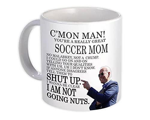 MAMÁ DE FÚTBOL Funny Biden : Taza de Regalo : Gran regalo de broma Joe Biden Humor Trabajos familiares Navidad Mejor