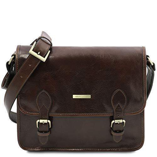 Tuscany Leather TL Postman Borsa messenger in pelle Testa di Moro