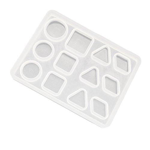 Hellery Siliconen vorm polymeer klei hars Casting Craft Geometrische hanger DIY vormen