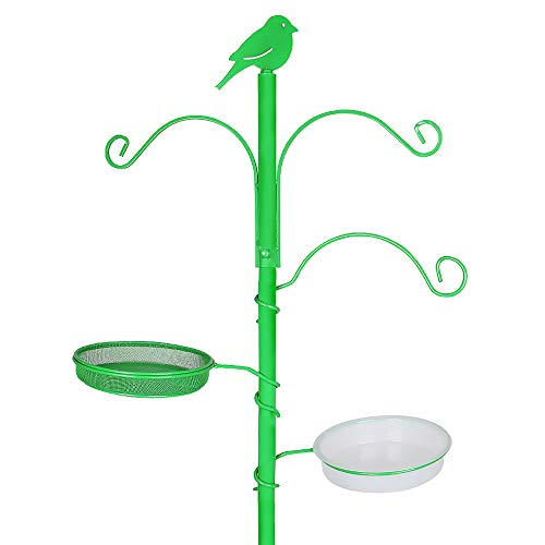 YANZ Bird Feeder Pole, Bird Feeder for Outside, Bird Feeding Station Kit (16.5' Wide x 72.8' Tall) A Multi Feeder Hanging Kit, Bird Bath for Strong Attracting Wild Birds, Planter Hanger