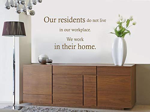 Care Home - Adhesivo decorativo para pared (80 x 42 cm), diseño con texto en inglés 'Our Residents'