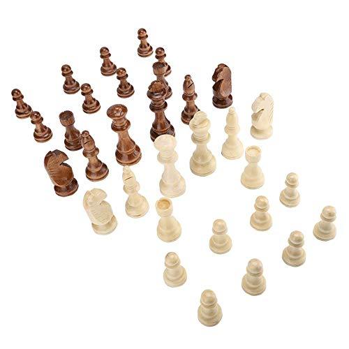 Weiyirot Xadrez de madeira, conjunto de xadrez internacional de madeira, jogo de xadrez internacional para adultos e crianças (10 cm)