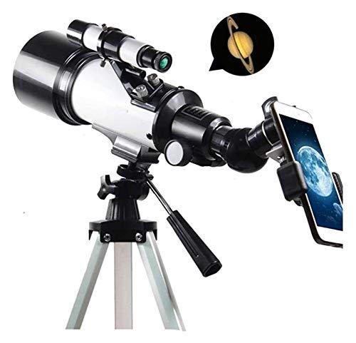 ASY Telescopios Telescopio astronómico con trípode Ajustable Clip para teléfono Refractor Telescopio portátil Espejo Vista del Paisaje Senderismo para niños Adultos Principiantes