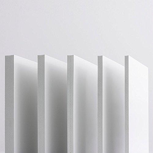 10mm Hartschaumplatten PVC Platte 42x30 cm (A3) Integralschaum weiß