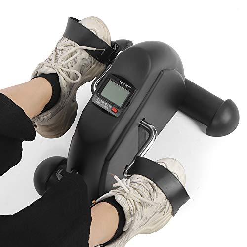 Emoshayoga Bicicleta Estática, Fácil De Usar Pantalla Digital Fitness Stepper Tamaño Pequeño Ejercicio Stepper con 2 Pedales para La Familia para Ejercitar Las Piernas para Ejercitar Las Manos