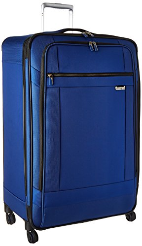 Samsonite Solyte Softside Expandable Luggage with Spinner Wheels, True Blue, Checked-Large 29-Inch