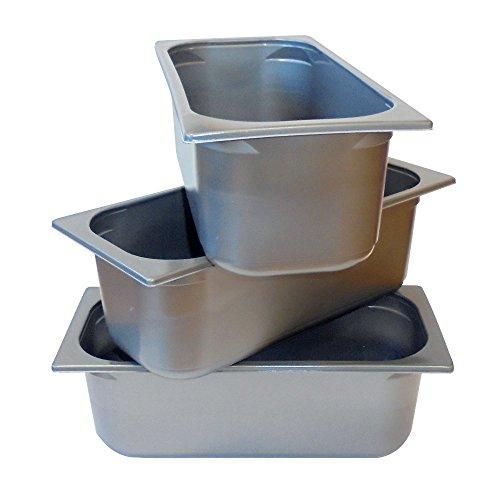 20 bandejas de plástico gris T. 5000 para vitrina de helado de 36 x 16 x 12 cm