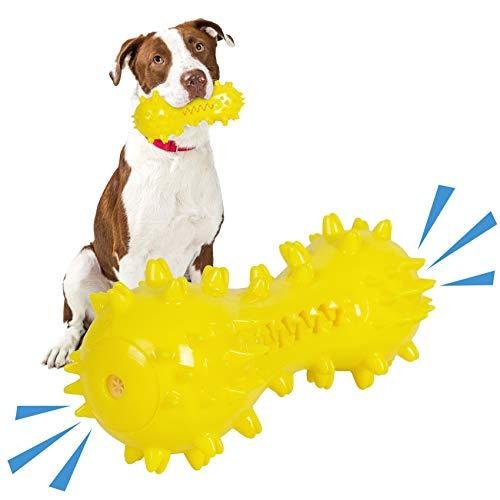 Cepillo de Dientes para Perros, Juguete Molar Multifuncional para Perros, Juguetes Chirriantes, Resistentes a la Mordedura Juguetes para Masticar Perros de Goma Natural Juguete