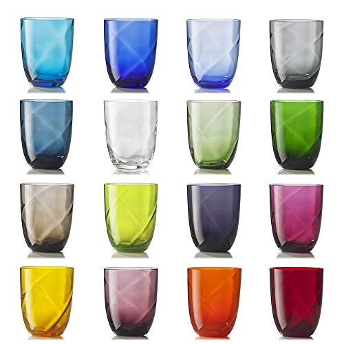 Nason Moretti Idra Lente Set 16 Bicchieri Vari Colori