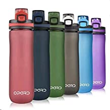 Opard Sports Water Bottle, 20 Oz BPA Free Non-Toxic Tritan Plastic Water Bottle with Leak Proof Flip Top Lid for Gym Yoga ...