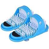 Persiverney 2pcs Badezimmer Dusche Fußbürste Badezimmer Dusche Keine Biegefüße Bürste Fußreinigung Borsten Pantoffel Waschmaschine Bad Wäscher Massagegerät Stick On Floor
