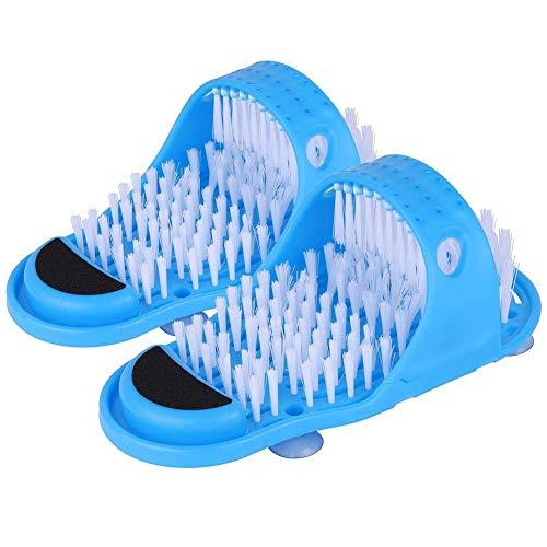 2 Stücke Bad Dusche Fuß Keine Biegefüße Bürste Fußwäscher Füße Peeling Reiniger Borsten Pantoffel für Dusche Spa Massage Peeling Entfernung