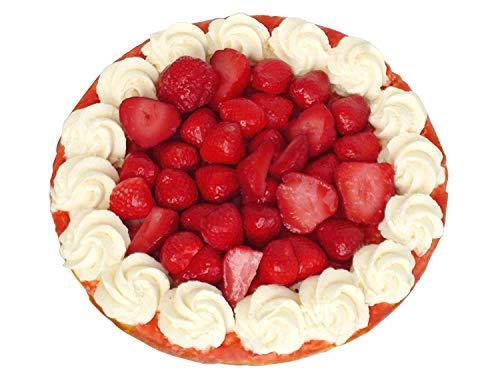 Erdbeertorte factice avec la crème plastique imitation food faux-pâtisserie