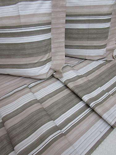 Pago Poco Novita !!!! Bettwäsche-Set für Einzelbett, französisches Bett, mit 2 Kissenbezügen, gestreift, Reine Baumwolle, 100% Perkal !