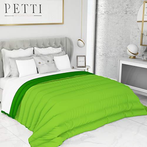 Petti Artigiani Italiani Trapunta, Microfibra, Verde/Lime, Matrimoniale Standard (240 x 260 cm)