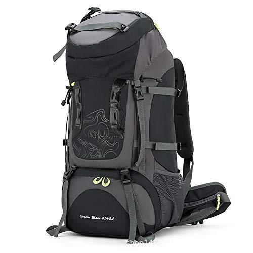 Mochila de senderismo, mochila de senderismo 70L, mochila de senderismo impermeable de gran capacidad, con funda para lluvia, hombres y mujeres, mochila de viaje, deportes al aire libre para acampar,A