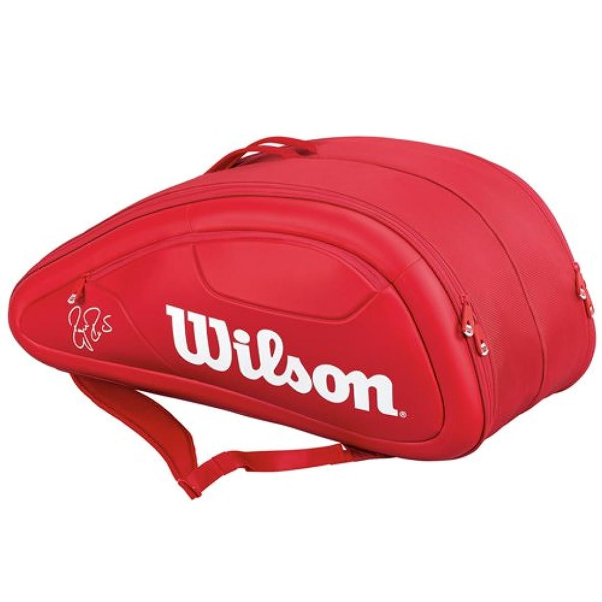 静的普及魅了するウィルソン テニス ラケットバッグ FEDERER DNA 12PACK (ラケット12本収納可能)