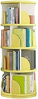 Kids Bookcases Bookshelf, Rotating Floor-Standing Corner Storage Book Rack, Large Capacity, for Home Office CDs Movies Books