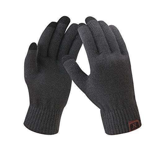 Bequemer Laden Damen Winter Warme Touchscreen Handschuhe Dunkel Grau