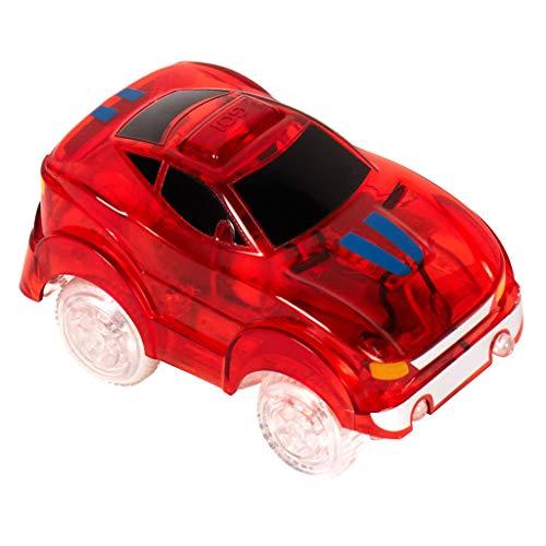 Rennbahn Auto Kinder | Ideal für Autorennbahn Magic Tracks | LED Autobahn für Kinder | Magic Tracks Auto rot | Rennauto Kinder 3 Jahre