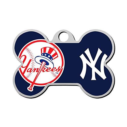SHSH New York y-ankees Baseball Custom pet ID tag Dog Tags Pet Brand Personalized Customization ID Bone-Shaped Double-Sided Printing Logo Symbol Phone Number