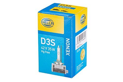 HELLA 8GS 009 028-311 Glühlampe - D3S - Xenon up to 4300 Kelvin - 42V - 35W - Sockelausführung: P32d-2-5 - Schachtel - Menge: 1