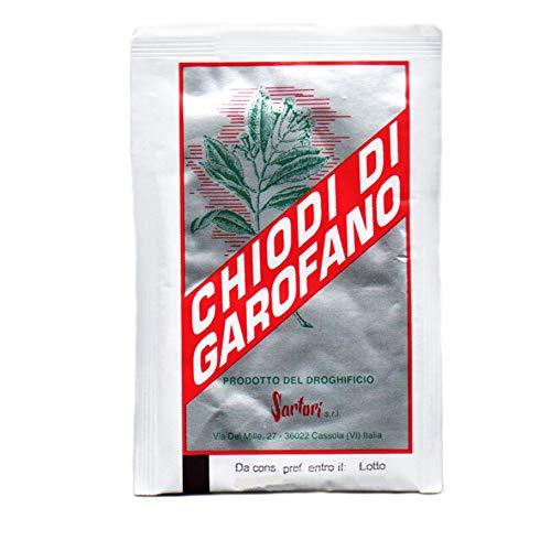 Chiodi di garofano macinati - 10 bustine da 5 gr - per aromatizzare la frutta cotta, i dolci, le salse, gli arrosti, gli stufati, i vini, i liquori e gli infusi.