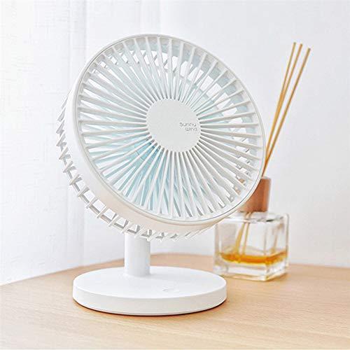 Ventilador de mesa con batería, ventilador silencioso con carga USB, ideal como ventilador de mesa en la oficina o en casa en el dormitorio.