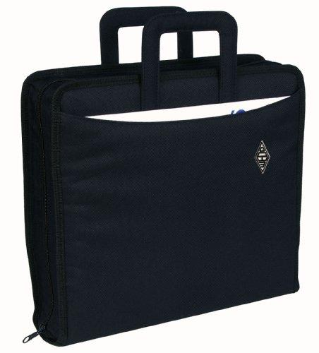 Wedo 58601 Ordnertasche Polyester A4, (mit Reißverschluss versenkbare Griffe und zwei A4-Außenfächer) schwarz