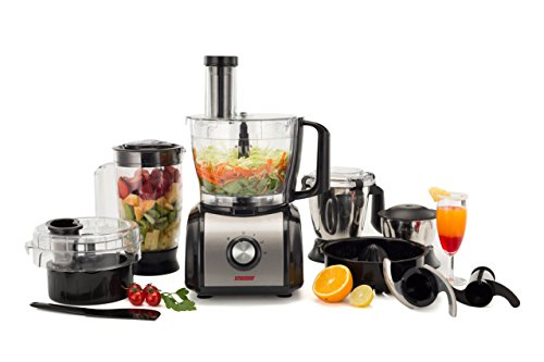 Spherehot Plastic Food Processor (Black and Silver)