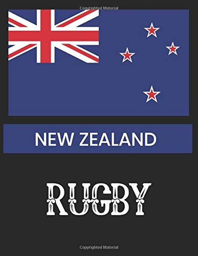NEW ZEALAND RUGBY: Rugby Journal for sport Notebook 110 pages 8.5x11 inches | Gift for rugby players men and woman| ball sport book