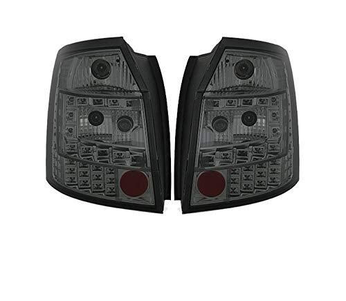 Fanali posteriori VT374 - Set completo di luci posteriori per auto e lato passeggero, in vetro trasparente, compatibile con Audi A4 8E B6 Avant Estate 2001 2002 2003 2004