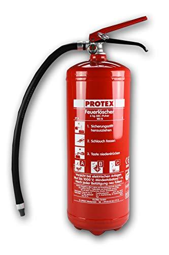 6kg Pulver Feuerlöscher Protex PDE6 Pulverlöscher mit Manometer hergestellt für Ingbertson Pulverfeuerlöscher für Gewerbe geeignet (6kg, mit Manometer)