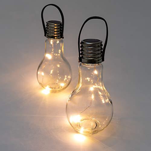 Solaray Solarleuchte zum Aufhängen und Tischlampe, 14 cm, Set of 2 lights