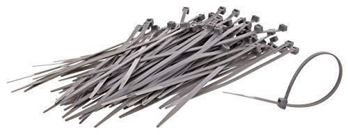 100 Stück Kabelbinder in grau 300mm x 4,8 mm, starke Nylonstreifen UV-beständig für das Fechten Maschenfechten Perfekt für die Montage von Schutzmatten für Brüstungen,Zäune, Bündel, Kabelverbinder
