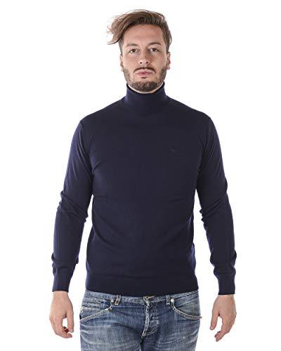 Armani Herren Schurwolle-Rollkragenpullover Marine L