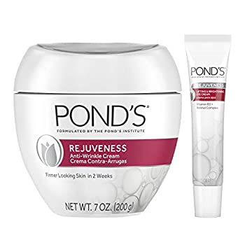 Pond s Anti-Wrinkle Cream and Eye Cream Anti-Aging Face Moisturizer Rejuveness Eye Wrinkle Cream With Vitamin B3 and Retinol Complex 2 Count