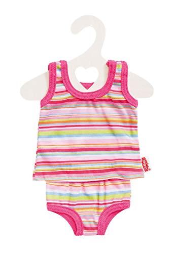 Heless 1110 - Unterwäsche für Puppen, in blau oder pink gestreift, sortiert, Größe 28 - 35 cm