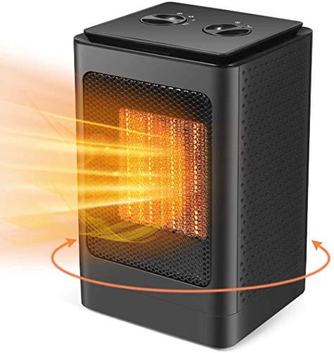 LYANXI Calentador eléctrico portátil pequeño mini calentador silencioso con temperatura constante cerámica calentamiento rápido adecuado para escritorio de oficina dormitorio familiar