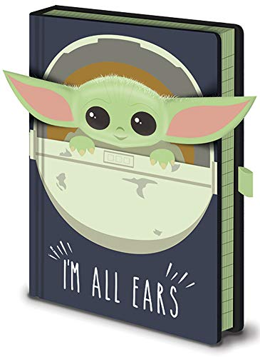 Empireposter Star Wars – The Mandalorian – I'm All Ears – Cuaderno premium en formato A5, tamaño 15 x 21 cm