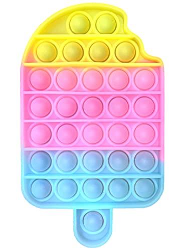 Fidget Toy Juguete Antiestres - Pop It Sensorial Helado para Niños y Adultos - Bubble Push Pop it Ice Cream - Juguetes Antiestrés de Explotar Burbujas para Aliviar Estrés y Ansiedad.