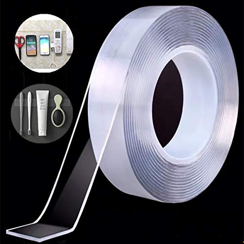 Heavy Duty Double Sided Tape,Mounting Tape, Traceless and Removable NANO...