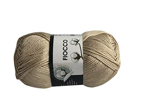 Fils italiens en coton. 100 % coton, 50 g (125 m) pour crochet et tricot.