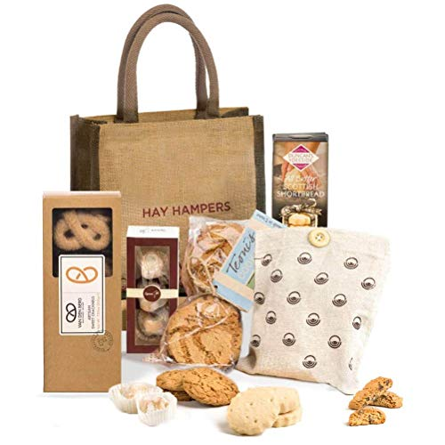 Baked with Love- Biscuit Selection Basket by Hay Hampers
