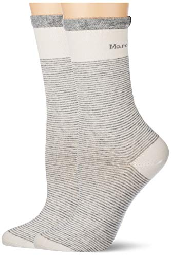 Marc O'Polo Body & Beach Damen Multipack W 2-Pack Socken, Weiß, OneSize_1